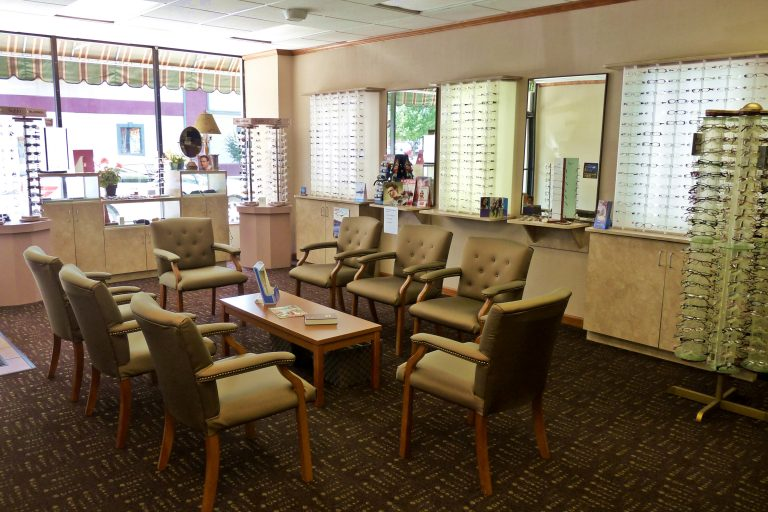 Interior of Family Optometry in Marion IN