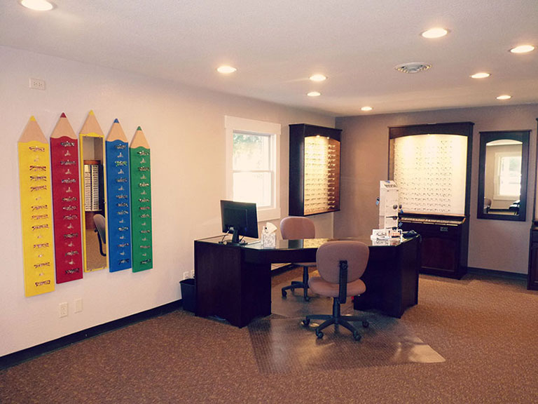 Interior of Family Optometry in Peru IN