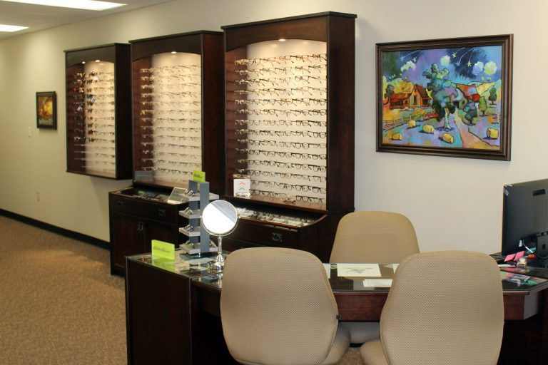 Interior of Family Optometry in Wabash